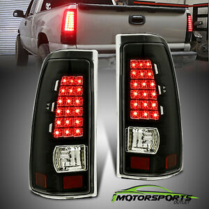 Fit 1999 2006 Chevy Silverado 1999 2006 Gmc Sierra Clear Led Tail Lights