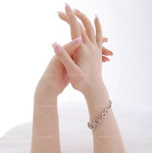 Lifelike Female Hand Stay Bent Mannequin Display Jewelry Model Props 1pc