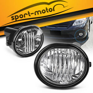 For 2003 2008 Toyota Matrix Clear Front Bumper Fog Light Lamps bulbs wiring Pair