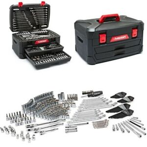 Mechanics Tool Set 287 Pc Universal Socket Wrench Ratchet Mixed Hand Kit Case