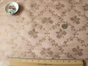 French Antique Lyon Pink Silk Fabric Sample Floral Frame L 24 X W 21