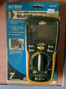 Extech Ex205t True Rms Auto Ranging Digital Multimeter New In Package