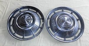 Vintage Pontiac Tempest 15 Wheel Covers Hub Caps Pair
