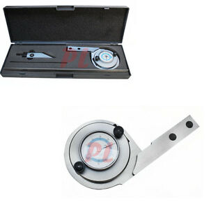 Universal Bevel Dial Protractor 6 12 Blade 0 360 Degree Grad Stainless Steel