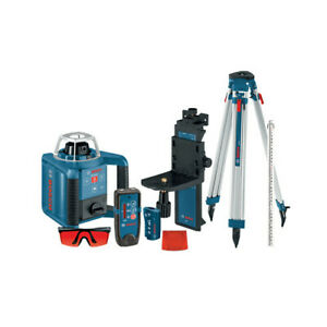 Bosch Self leveling Rotary Laser With Layout Beam Complete Kit Grl300hvck New