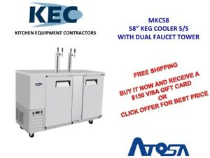 Free 150 Gift Card 58 Keg Cooler With Dual Faucet Tower Mkc58
