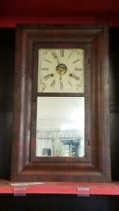 Antique 1860 S New Haven 30 Hour Weight Driven Wall Clock W Key Ss1046511
