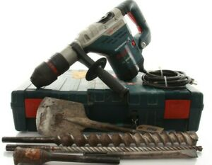 Bosch 13 Amp 11264evs Rotary Hammer Drill 1 5 8 In Corded Sds max With Free