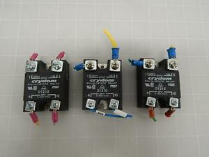 Lot Of 3 Crydom D1210 Solid state Relay T60986