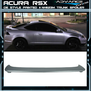 02 06 Rsx Dc5 Oe Style Trunk Spoiler Painted Satin Silver Metallic Nh623m