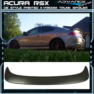 02 06 Rsx Dc5 Oe Trunk Spoiler Painted yr534m Desert Silver Metallic