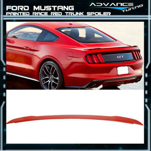 15 19 Mustang Gt Style Oem Painted Color Pq Race Red Trunk Spoiler Abs