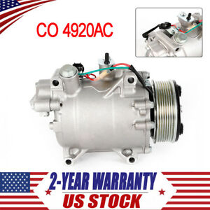 New Ac A C Compressor Fits For 2007 2015 Honda Crv 2 4l 2012 2014 Civic Si