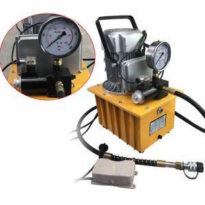 10000 Psi Pedal Solenoid Valve Controlled 110v Electric Driven Hydraulic Pump