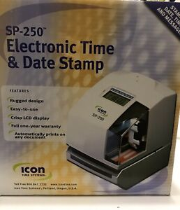 Icon Sp 250 Electronic Time Data Stamp