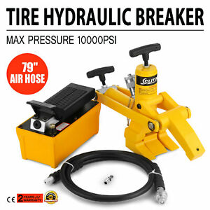 Tractor Truck Hydraulic Bead Breaker Tire Changer Equipment Airhose Tools Good