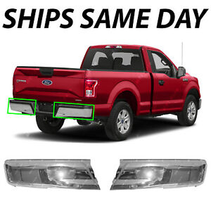 New Chrome Steel Left Right Rear Bumper Ends For 2015 2016 2017 2018 Ford F150