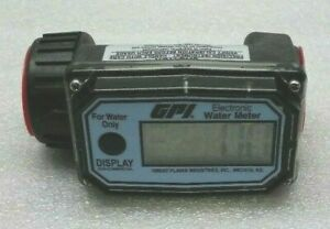 Nice Great Plains Industries 01n31gm Electronic Water Meter Gpi Nylon Flowmeter