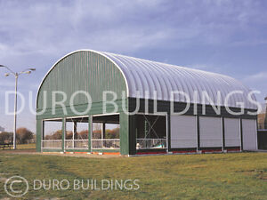 Durospan Steel 30x30x15 Metal Prefab Building Kit Horse Barn Structures Direct