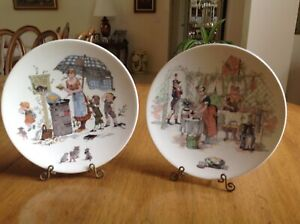19th Century Hand Painted Signed Porcelain Plates