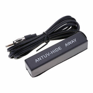 Universal Car Hidden Amplified Antenna Kit 12v Electronic Stereo Fm Am Radio New