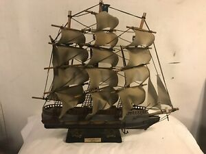 Model Ship 16 X16 Vintage Uss Constitution 1814 C12pix4size Details Make Offer