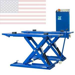 6600 Lb Automotive Mid Rise Scissor Automotive Auto Car Lift 110v