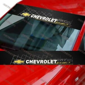 For Chevrolet Car Window Windshield Carbon Fiber Vinyl Banner Decal Sticker New