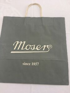 Dazzling Brilliant Moser Crystal Perfume Bottle W Stopper New Old Stock