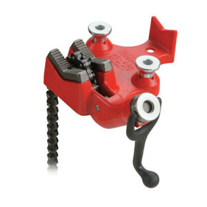 Ridgid 40205 5 In Heavy duty Top Screw Bench Chain Vise With Crankle Handle New