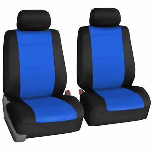 Front Bucket Cover Neoprene Waterproof For Auto Universal Fitment Blue Black