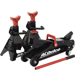 Ac Delco 2 Ton Floor Jack Stand Set Car Vehicle Auto Service Trolley Lift