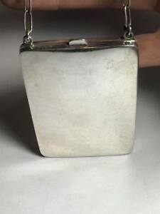 Antique Sterling Silver Coin Purse Compact