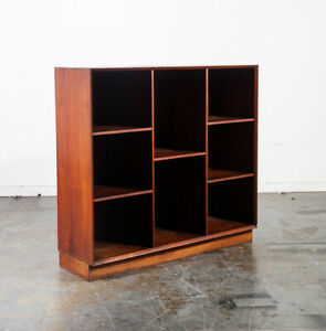 Mid Century Danish Modern Bookcase Book Shelf Peter Hvindt Solid Teak Vintage