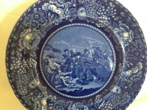 Historical Staffordshire Plate Depicting The Battle Of Bunker Hill