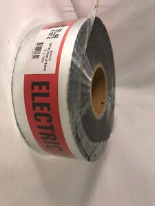 Caution Electric Line Below Reflective Buried Underground Warning Safety Tape