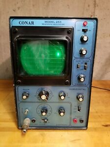 Conar Instruments Solid State Oscilloscope Model 255 Turns On