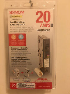 Square D hom120dfc 20 Amp Dual Function Circuit Interrupter