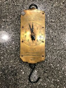 Vintage Chatillon S Brass Milk Scale 30 Lbs Original Patina