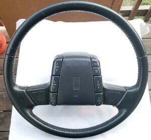 1993 Oldsmobile Cutlass Supreme Sl Gray Steering Wheel And Horn Pad Oem Used