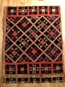 Antique Crazy Quilt 63 X 49