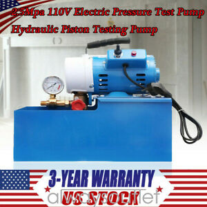 10 Off 2 5mpa 110v Electric Pressure Test Pump Hydraulic Piston Testing Pump