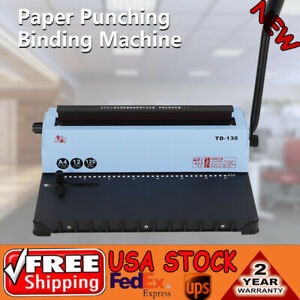 10 off 34 Hole Punching Spiral Coil Calendar Binding Machine Solid Handle