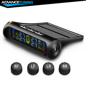 Universal Car Wireless Tire Pressure Monitor System Tpms 4 Sensors Lcd Display