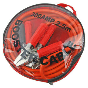 2 5m Long 300 Amp Battery Jumper Jump Start Cables Wire Leads For 4x4 Truck Car