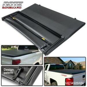 Tri Fold 5ft For 2015 2019 Chevy Colorado Gmc Canyon Truck Bed Tonneau Cover