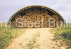 Durospan Steel 50x50x19 Metal Quonset Hut Hay Shed Building Kit Open Ends Direct