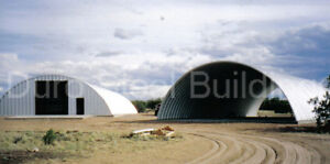 Durospan Steel 40x100x18 Metal Quonset Hut Diy Ag Building Kit Open Ends Direct