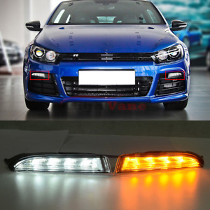 Front Led Fog Driving Daytime Running Lights Drl For Vw Scirocco R 2010 2014