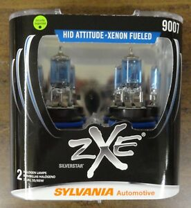Sylvania Silverstar Zxe 9007 Pair Set Headlight Bulbs Xenon Fueled New Sealed